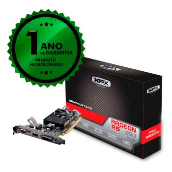 Placa de Vídeo XFX AMD Radeon R5 230 2GB DDR3 HDMI 128 Bits