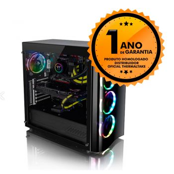 Gabinete Thermaltake TT VIEW 22 TG BLACK/TEMP. GLASS*1/WIN/SGCC CA-1J3-00M1WN-00
