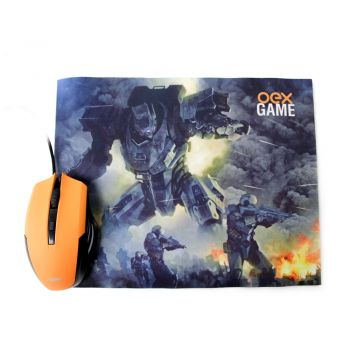 Combo Clash Mouse 3200 DPI 6 Botões Luz de Led + Mousepad Antiderrapante MC103