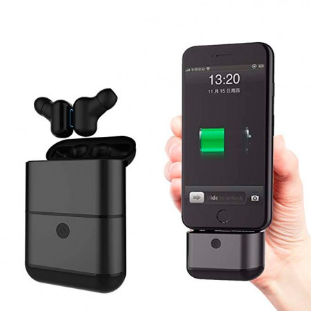 Mini Earphone Bluetooth Binaural Invisível Power Bank Preto X2-TWS  - foto principal 1