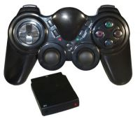Joypad Vibration Wireless (Sem fio) p/ PS2 e PC