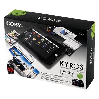 Internet Tablet Coby Kyros MID7020 (Com Webcam)  - foto principal 2