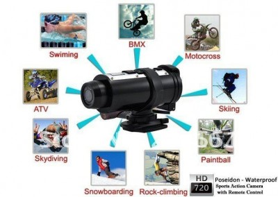 Poseidon Action Sport WaterProof Camera 720P  - foto principal 3