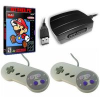 Kit Snes PC - Adaptador Dual Snes + 2 Controles de Snes + DVD com 5000 Jogos!