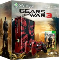 Xbox 360 Edição Limitada Gears of War 3 (2 controles + hd 320gb + headset)