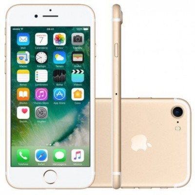 "IPhone 7 Apple 32GB Dourado 4G Tela 4.7"" Retina - Câm. 12MP + Selfie 7MP iOS 11 Proc. Chip A10  - foto principal 1"
