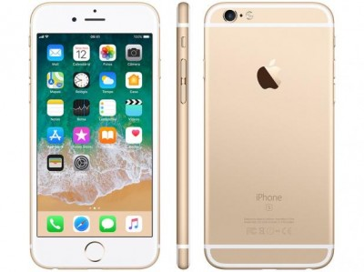 "iPhone 6s Apple 16GB DOURADO 4G Tela 4.7"" - Retina Câm. 12MP + Selfie 5MP iOS 10 Proc. A9  - foto principal 1"