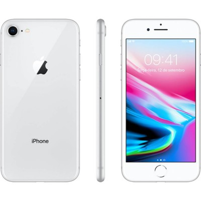 iPhone 8 PRATA 64GB Tela 4.7'' IOS 11 4G Wi-Fi Câmera 12MP - Apple  - foto principal 1