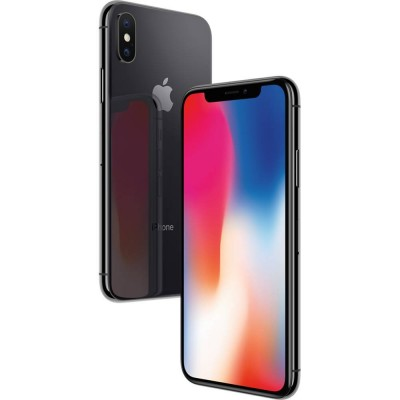 iPhone X 64GB CINZA ESPACIAL Tela 5.8' iOS 11 4G Câm 12MP - Proc A11 Bionic - Apple  - foto principal 5