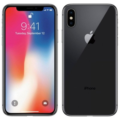 iPhone X 64GB CINZA ESPACIAL Tela 5.8' iOS 11 4G Câm 12MP - Proc A11 Bionic - Apple  - foto principal 1