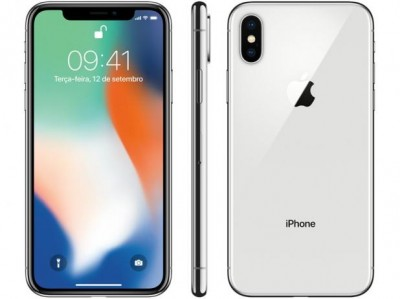 iPhone X 64GB PRATA Tela 5.8' iOS 11 4G Câm 12MP - Proc A11 Bionic - Apple  - foto principal 1