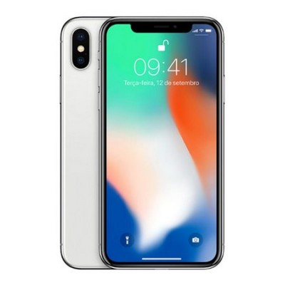 iPhone X 256GB PRATA Tela 5.8' iOS 11 4G Câm 12MP - Proc A11 Bionic - Apple  - foto principal 5