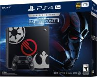 PlayStation 4 Pro 1TB Limited Edition Console - Star Wars Battlefront 2 Bundle