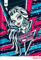Caderno Brochura Capa Dura 1/4 Pequeno 141028 Monster High Top 96 Fls 2014