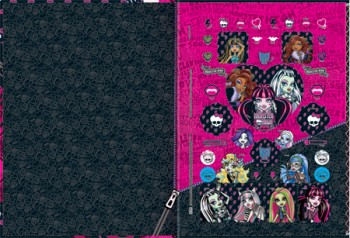Caderno Brochura Capa Dura 1/4 Pequeno 141028 Monster High Top 96 Fls 2014  - foto principal 1