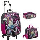 Kit Mochila Grande Baú c/ Roda Monster High 15Y01 63330 + Lancheira 63335 + Estojo 63336