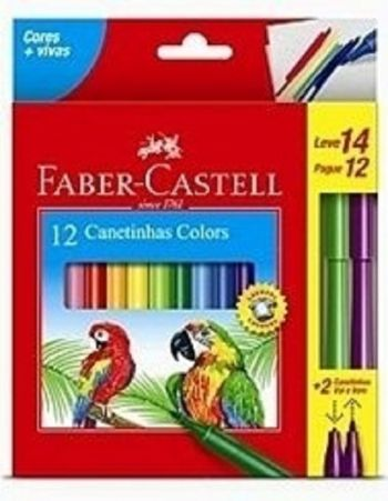 Canetinha 12 Cores 637813 Faber-Castell