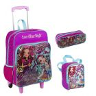 Kit Mochila Grande com Roda Ever After High 16M Plus 64305 + Lancheira 64307 + Estojo 64308