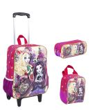 Kit Mochila Grande c/ Roda Ever After High 16M 63961 + Lancheira 63964 + Estojo 63965