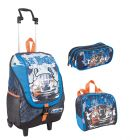 Kit Mochila Grande com Roda Hot Wheels 16Y01 64050 + Lancheira 64054 + Estojo 64056