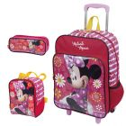 Kit Mochila Grande c/ Roda Minnie 16M Plus 63940 + Lancheira 63944 + Estojo 63945