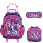 Kit Mochila Grande c/ Roda My Little Pony 48704 + Lancheira 48701 + Estojo 48699