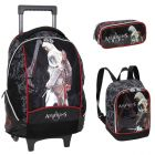 Kit Mochila Grande c/ Roda 958A01 + Lancheira 958A09 + Estojo 2 divisões 958A14 Assassins Creed