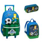 Kit Mochila Grande c/ Roda The Simpsons - (Bart) 940E01 + Lancheira 940E09 + Estojo 940E14