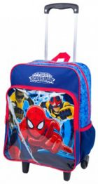 Mochila Grande c/ Roda Spiderman 16M Plus 63980