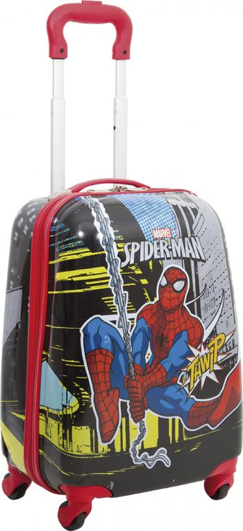 Mala Escolar c/ Roda Spiderman 17PC 360º 64802