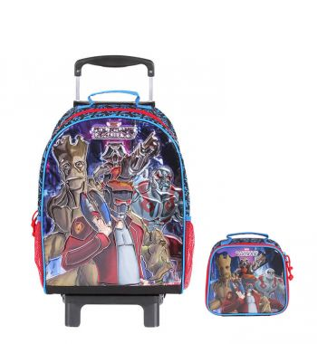 Kit Mochila Grande c/ Roda Guardians of the Galaxy 48716 + Lancheira 48714