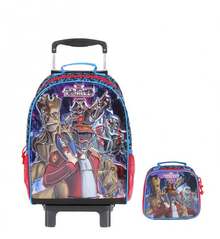 Kit Mochila Grande c/ Roda Guardians of the Galaxy 48716 + Lancheira 48714  - foto principal 1