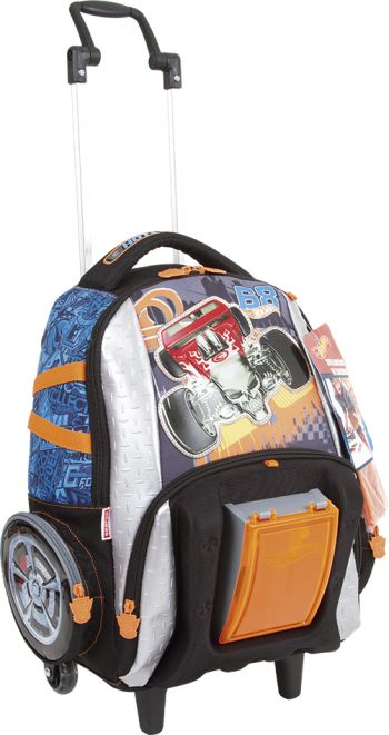 Mochila Grande c/ Roda Hot Wheels 17Z 64593