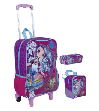 Kit Mochila Grande com Roda Ever After High 17M 64688 + Lancheira 64691 + Estojo 64692 BF