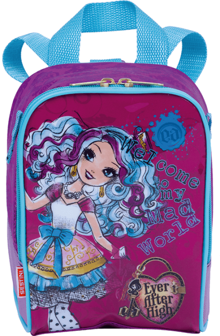 Kit Mochila Grande com Roda Ever After High 17M 64688 + Lancheira 64691 + Estojo 64692