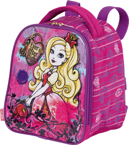 Kit Mochila Grande com Roda Ever After High 3D 17X 64753 + Lancheira 64755 + Estojo 64756