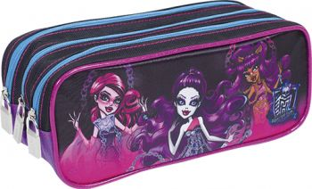 Estojo 3 Divisões Monster High 16Y01 Sestini 64026