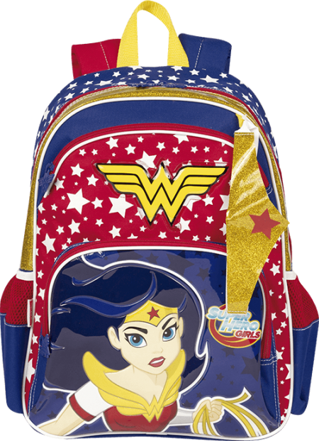 Mochila Grande Super Hero Girls Wonder Woman 18Y Sestini 65118