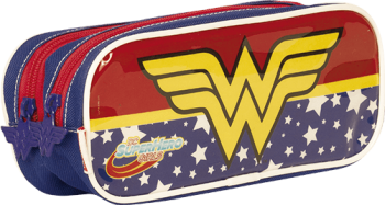 Estojo 2 Divisões Super Hero Girls Wonder Woman 18Y Sestini 65122