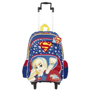 Mochila Grande com Roda Super Hero Girls Super Girl 18Y Sestini 65117