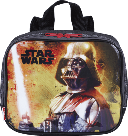 Kit Mochila Grande com Roda Star Wars 18M Plus 65088 + Lancheira 65090 + Estojo 65091