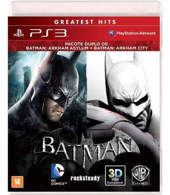 Batman Bundle: Arkham Asylum + Arkham City - PS3