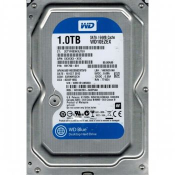 HD Interno Desktop 3,5'' 1TB Sata 3 7200RPM WD BLUE - WD