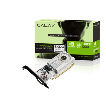 Placa de Video GeForce GT 1030 EXOC WHITE 2GB DDR5 - Galax