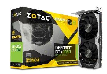 Placa de Vídeo GeForce GTX 1060 AMP! Edition+ 6GB DDR5 - ZOTAC