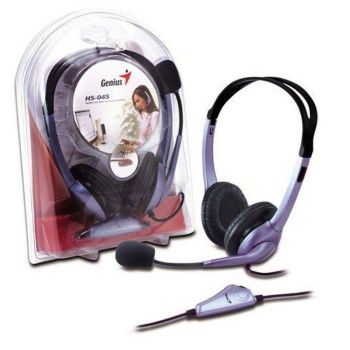 Headset HS-04S 1 Plug P2 (p/ Notebook/tablet/Celular) - Genius