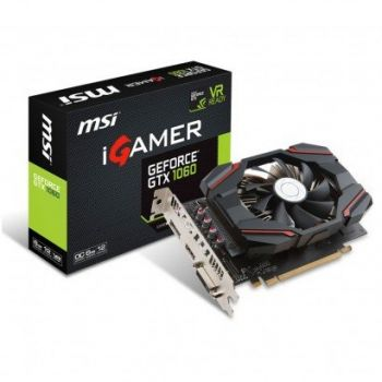 Placa de Vídeo GeForce GTX 1060 IGAMER OC 6GB DDR5 - MSI