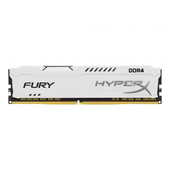 Memória RAM Desktop HYPERX FURY 8GB DDR4 2400MHz CL15 DIMM Branco - Kingston