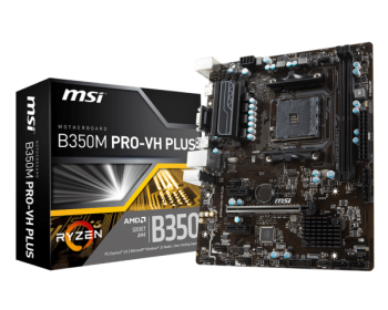 Placa Mãe B350M PRO - VH Plus DDR4 AM4 - MSI