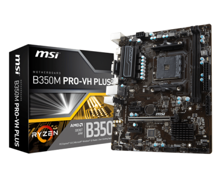 Placa Mãe B350M PRO - VH Plus DDR4 AM4 - MSI  - foto principal 1